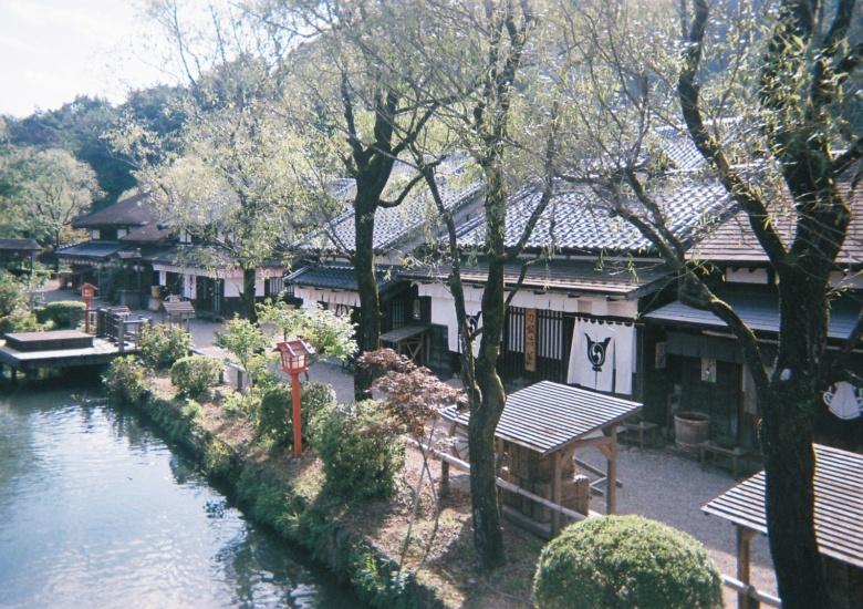 日光江戸村の風景