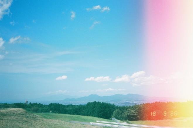感光している熊本の空
