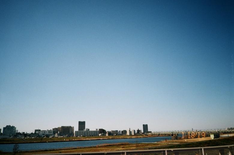 河川敷からの景色