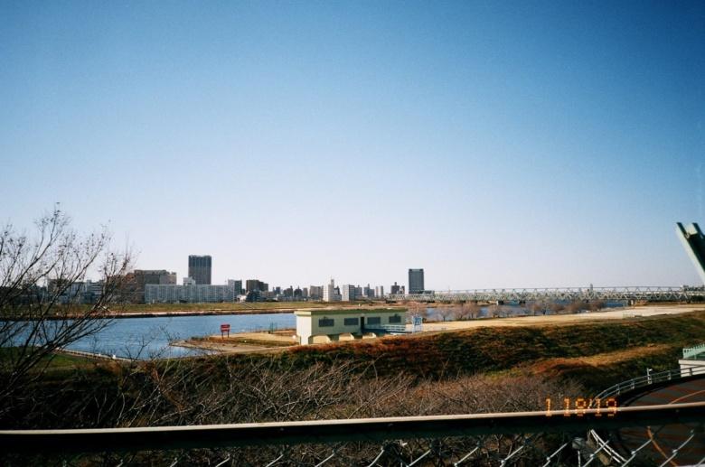 公園から見た河川敷