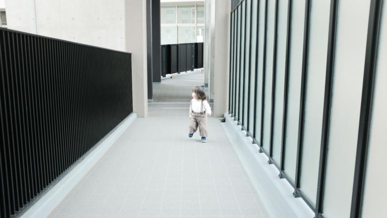 渡り廊下外