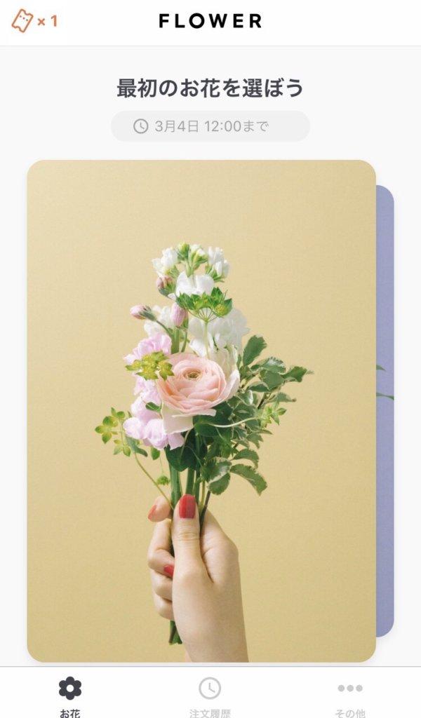 お花を選ぶ