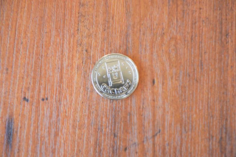 キッズプレートにつくコイン